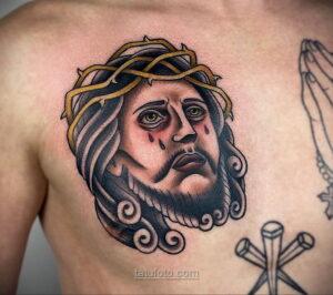 Фото Тату с Иисусом Христом 11.01.2021 №10130 -jesus tattoo- tatufoto.com