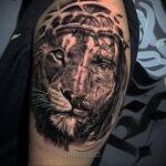 Фото Тату с Иисусом Христом 11.01.2021 №10145 -jesus tattoo- tatufoto.com