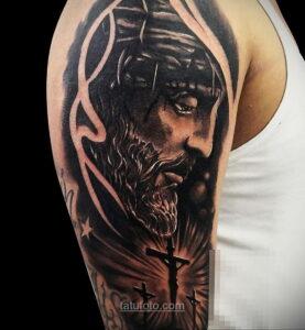 Фото Тату с Иисусом Христом 11.01.2021 №10148 -jesus tattoo- tatufoto.com
