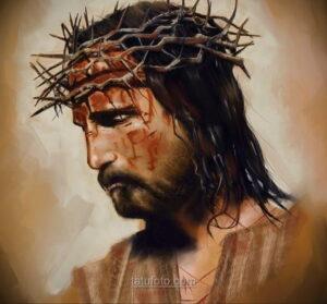 Фото Тату с Иисусом Христом 11.01.2021 №10154 -jesus tattoo- tatufoto.com