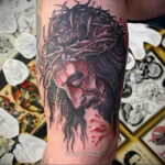 Фото Тату с Иисусом Христом 11.01.2021 №10155 -jesus tattoo- tatufoto.com