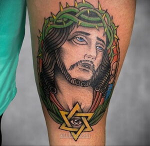 Фото Тату с Иисусом Христом 11.01.2021 №10158 -jesus tattoo- tatufoto.com