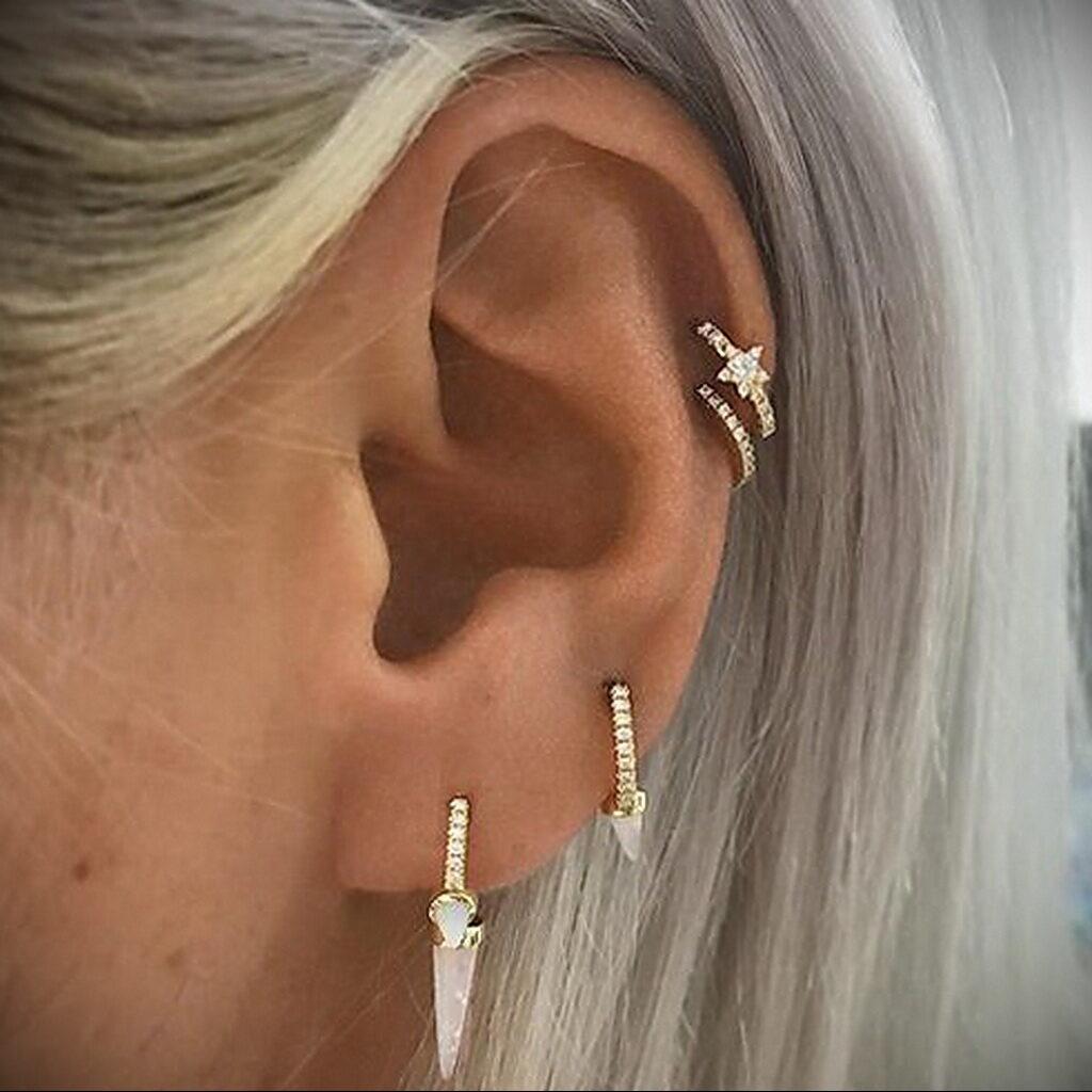 Фото Хрящевой пирсинг 29.01.2021 №0441 - Cartilage piercing - tatufoto.com