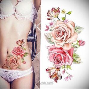 Фото женского цветного рисунка тату 09.01.2021 №1011 -color female tattoo- tatufoto.com