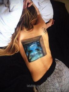 Фото женского цветного рисунка тату 09.01.2021 №1014 -color female tattoo- tatufoto.com