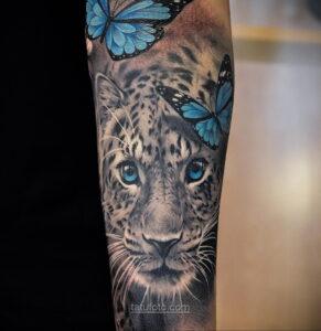 Фото женского цветного рисунка тату 09.01.2021 №1029 -color female tattoo- tatufoto.com