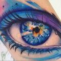 Фото женского цветного рисунка тату 09.01.2021 №1589 -color female tattoo- tatufoto.com