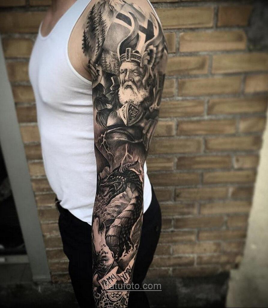 Фото мужского рисунка тату 09.01.2021 №10433 -male tattoo- tatufoto.com