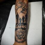 Фото пример рисунка для тату часы 19.01.2021 №0025 - tattoo clock - tatufoto.com