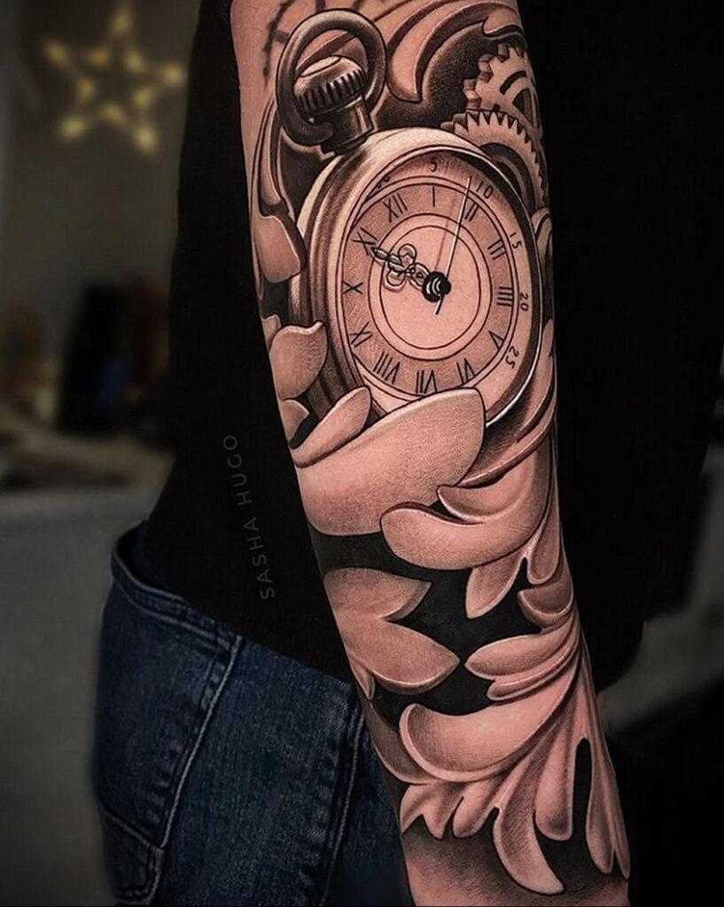 Фото пример рисунка для тату часы 19.01.2021 №0044 - tattoo clock - tatufoto.com