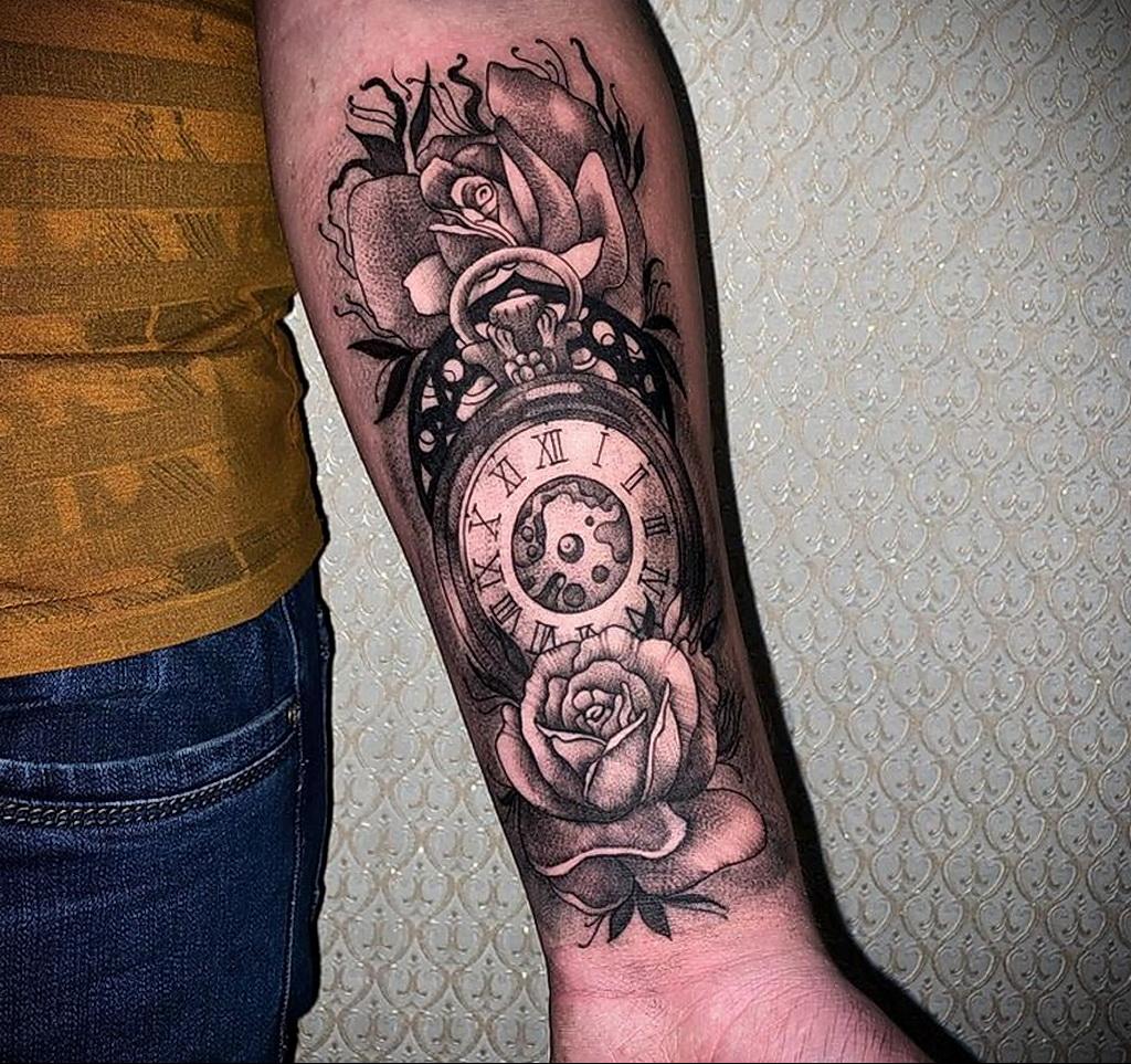 Фото пример рисунка для тату часы 19.01.2021 №0049 - tattoo clock - tatufoto.com