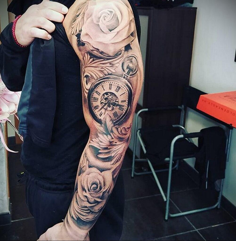 Фото пример рисунка для тату часы 19.01.2021 №0056 - tattoo clock - tatufoto.com