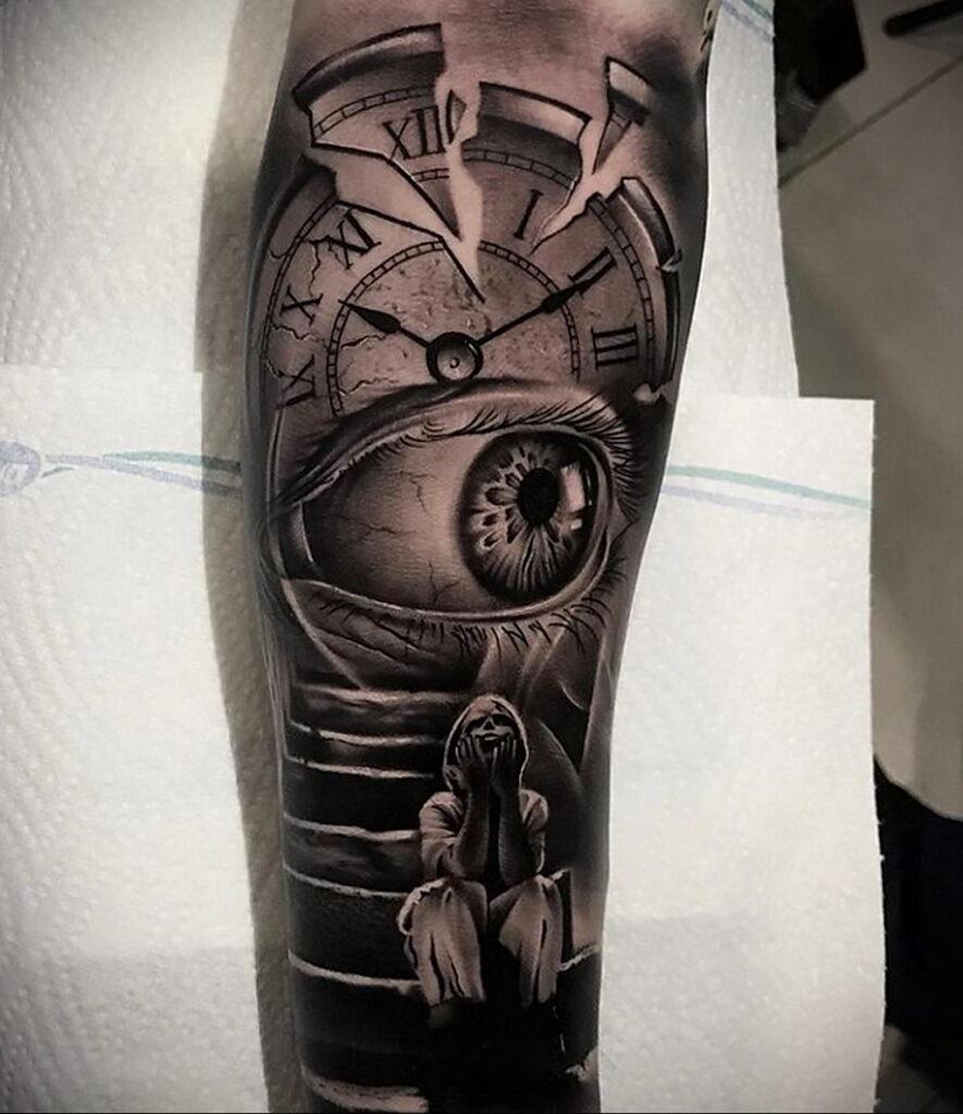 Фото пример рисунка для тату часы 19.01.2021 №0058 - tattoo clock - tatufoto.com