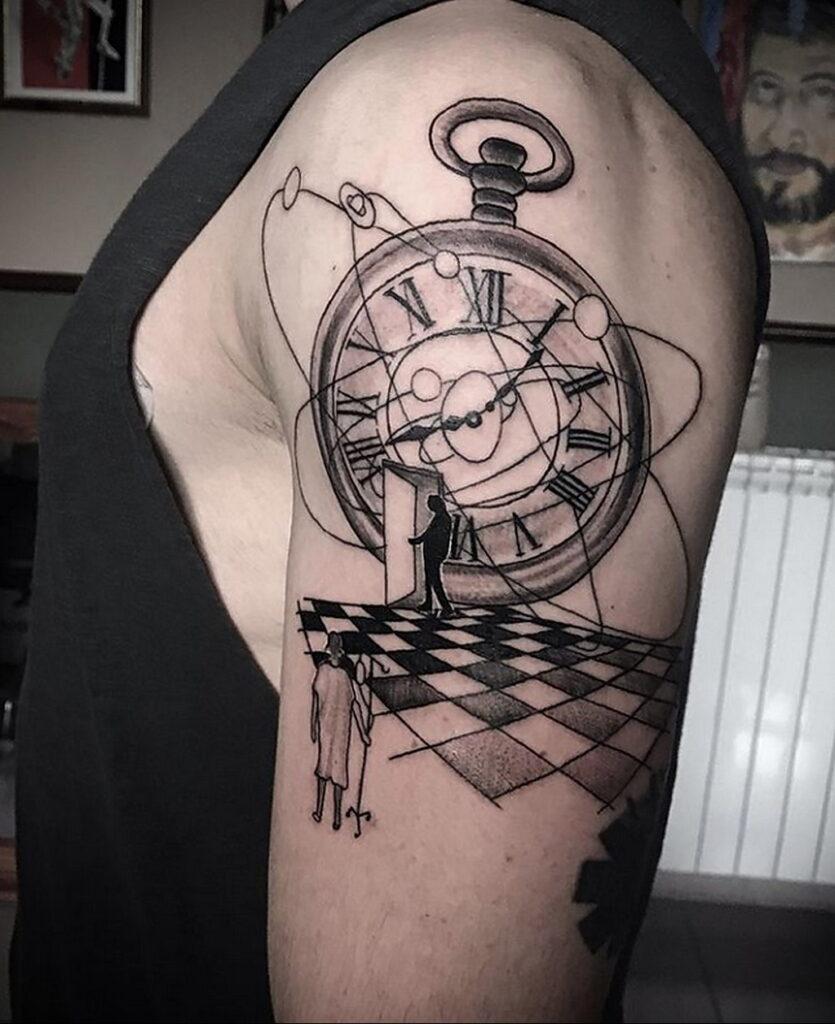 Фото пример рисунка для тату часы 19.01.2021 №0061 - tattoo clock - tatufoto.com