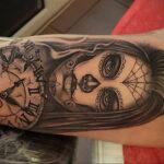 Фото пример рисунка для тату часы 19.01.2021 №0072 - tattoo clock - tatufoto.com