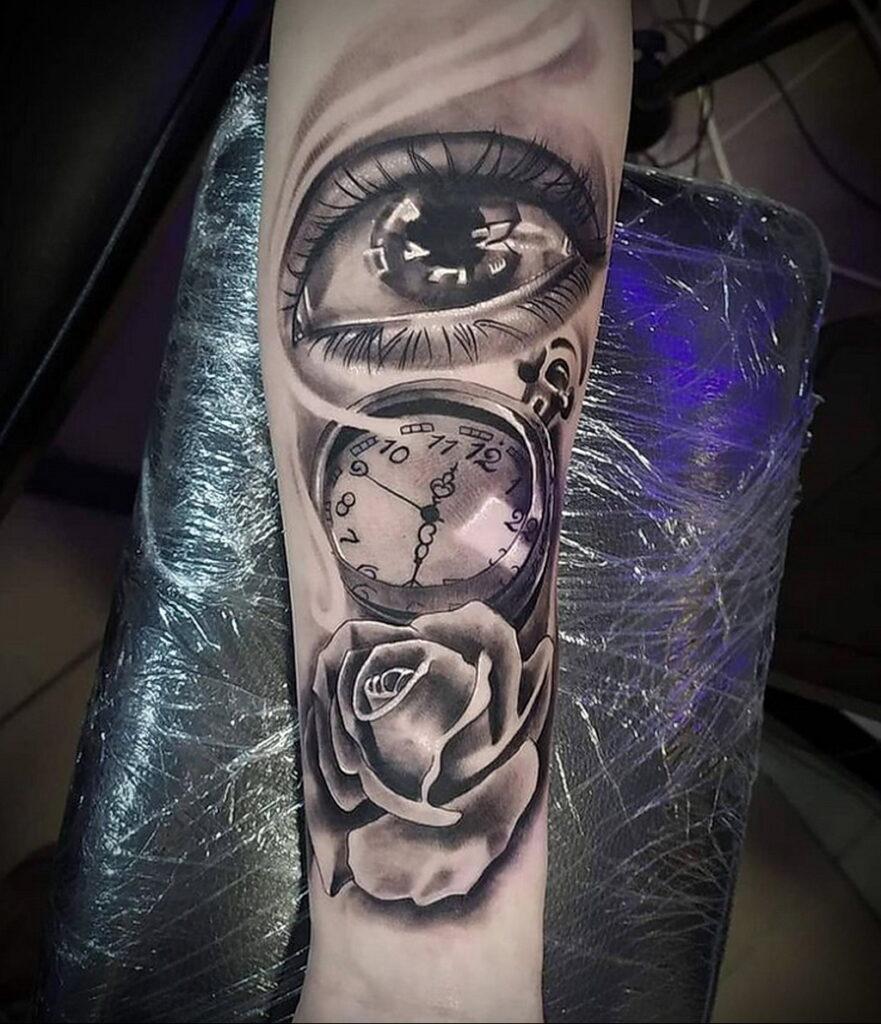 Фото пример рисунка для тату часы 19.01.2021 №0073 - tattoo clock - tatufoto.com
