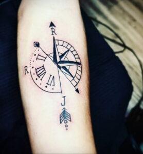 Фото пример рисунка для тату часы 19.01.2021 №0078 - tattoo clock - tatufoto.com