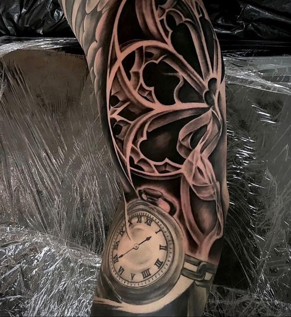 Фото пример рисунка для тату часы 19.01.2021 №0082 - tattoo clock - tatufoto.com