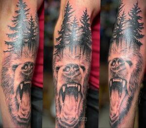 Фото рисунка тату лес 10.01.2021 №10007 -forest tattoo- tatufoto.com