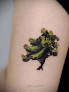 Фото рисунка тату лес 10.01.2021 №10033 -forest tattoo- tatufoto.com