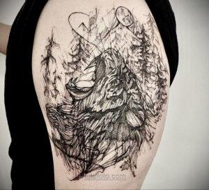 Фото рисунка тату лес 10.01.2021 №10039 -forest tattoo- tatufoto.com