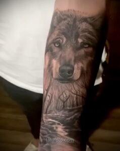 Фото рисунка тату лес 10.01.2021 №10050 -forest tattoo- tatufoto.com