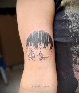 Фото рисунка тату лес 10.01.2021 №10051 -forest tattoo- tatufoto.com