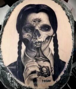 Фото страшного рисунка тату 10.01.2021 №10024 -scary tattoo- tatufoto.com