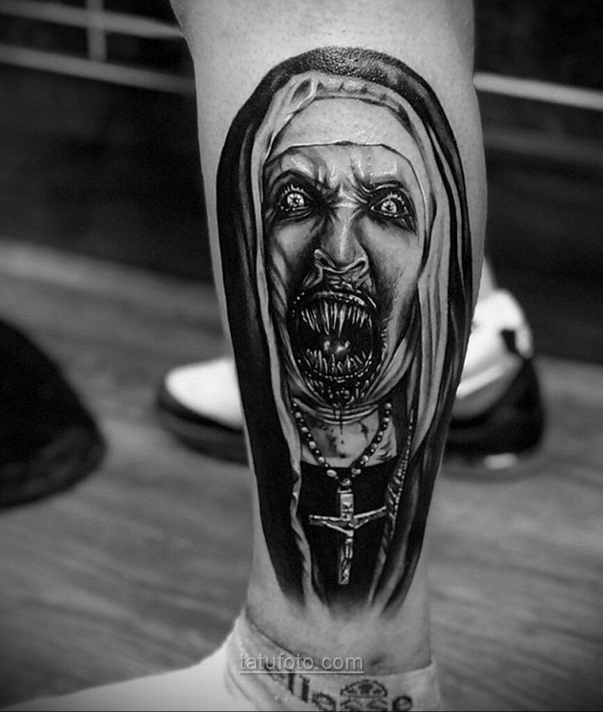 Фото страшного рисунка тату 10.01.2021 №10032 -scary tattoo- tatufoto.com