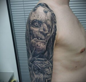 Фото страшного рисунка тату 10.01.2021 №10034 -scary tattoo- tatufoto.com