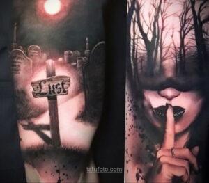 Фото страшного рисунка тату 10.01.2021 №10035 -scary tattoo- tatufoto.com