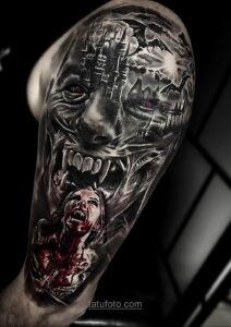Фото страшного рисунка тату 10.01.2021 №10036 -scary tattoo- tatufoto.com
