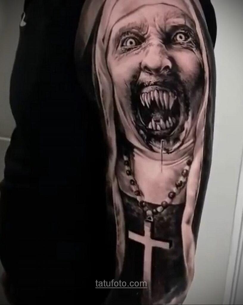 Фото страшного рисунка тату 10.01.2021 №10037 -scary tattoo- tatufoto.com