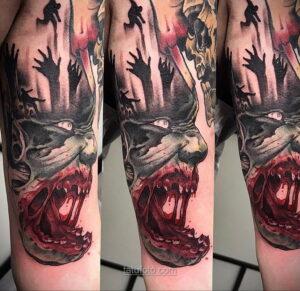 Фото страшного рисунка тату 10.01.2021 №10041 -scary tattoo- tatufoto.com
