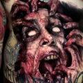 Фото страшного рисунка тату 10.01.2021 №10052 -scary tattoo- tatufoto.com