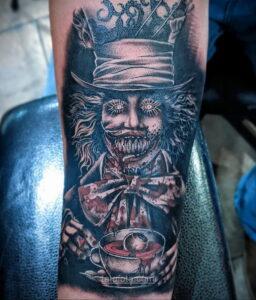 Фото страшного рисунка тату 10.01.2021 №10055 -scary tattoo- tatufoto.com