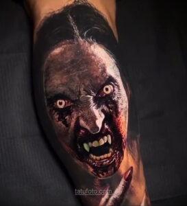 Фото страшного рисунка тату 10.01.2021 №10062 -scary tattoo- tatufoto.com