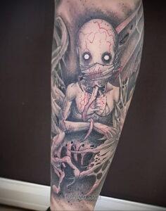 Фото страшного рисунка тату 10.01.2021 №10068 -scary tattoo- tatufoto.com
