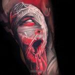 Фото страшного рисунка тату 10.01.2021 №10071 -scary tattoo- tatufoto.com