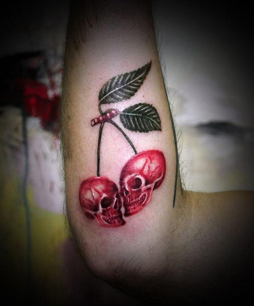 Фото тату вишня 07.01.2021 №1078 -cherry tattoo- tatufoto.com