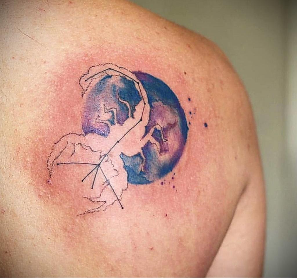 Фото тату зодиак скорпион 16.01.2021 №0003 -scorpio zodiac tattoo- tatufoto.com
