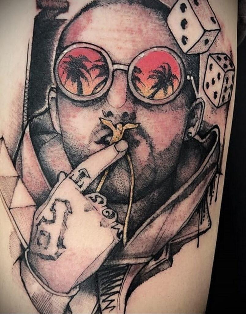Фото тату портрет Мак Миллера 20.01.2021 №0071 - Mac Miller tattoo - tatufoto.com
