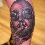 Фото тату портрет Мак Миллера 20.01.2021 №0083 - Mac Miller tattoo - tatufoto.com