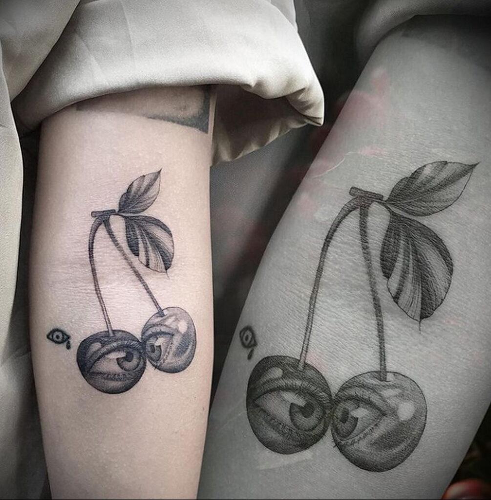 Фото тату рисунок вишня 07.01.2021 №109 -cherry tattoo- tatufoto.com