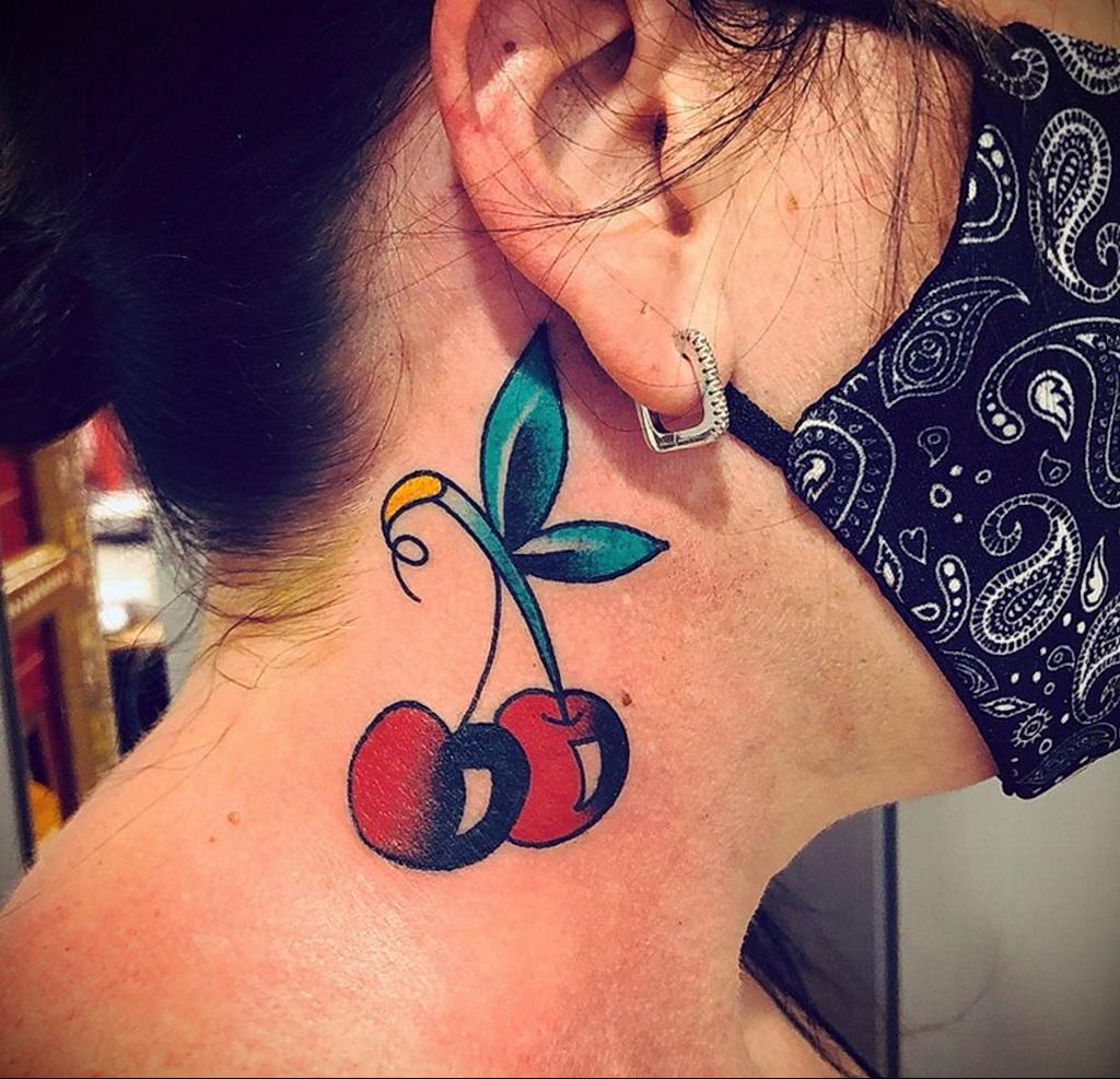 Фото тату рисунок вишня 07.01.2021 №140 -cherry tattoo- tatufoto.com