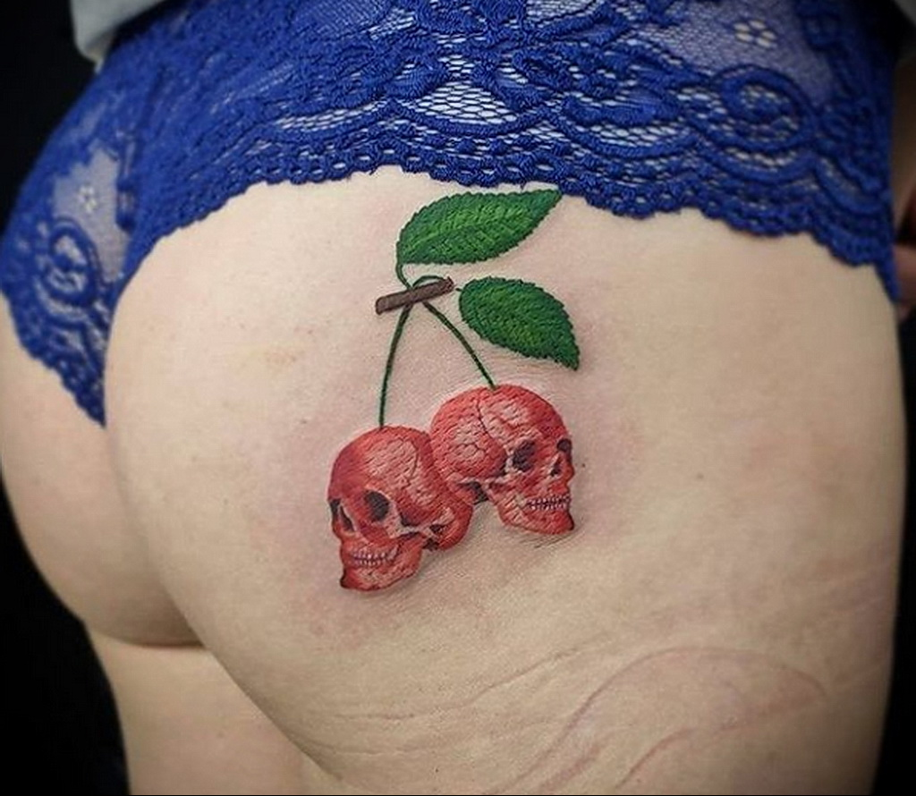 Фото тату рисунок вишня 07.01.2021 №145 -cherry tattoo- tatufoto.com