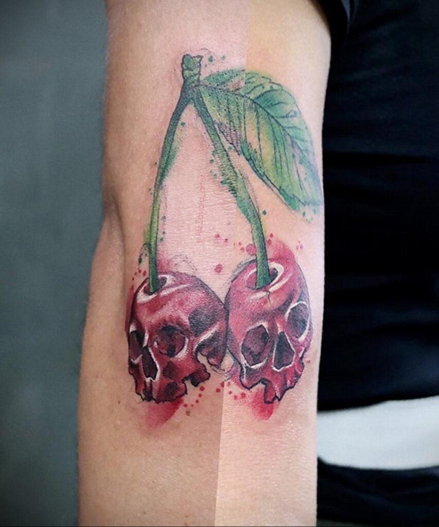 Фото тату рисунок вишня 07.01.2021 №173 -cherry tattoo- tatufoto.com