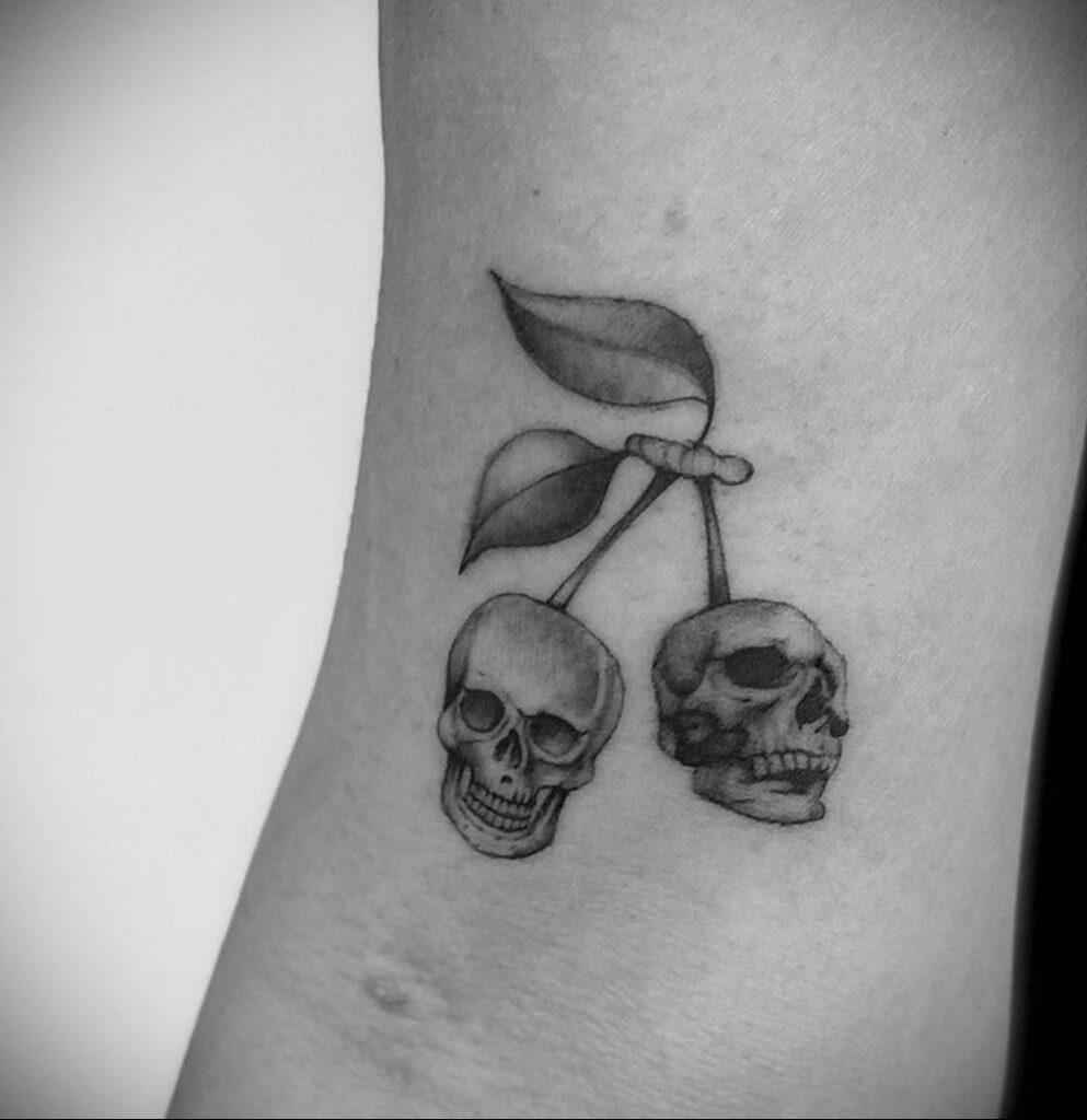 Фото тату рисунок вишня 07.01.2021 №175 -cherry tattoo- tatufoto.com