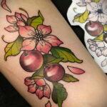 Фото тату рисунок вишня 07.01.2021 №219 -cherry tattoo- tatufoto.com