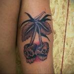 Фото тату рисунок вишня 07.01.2021 №221 -cherry tattoo- tatufoto.com